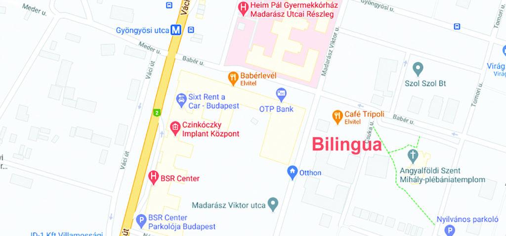 Bilingua Fordítóiroda Budapest térkép